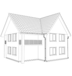 sketch outline house on the white background vector image