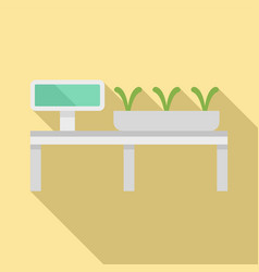 Smart growing plants icon flat style vector