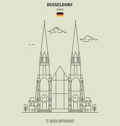St maria empfaengnis in dusseldorf vector