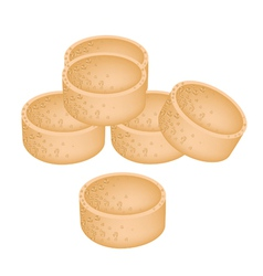 Stack of Millet Cookies on White Background vector image