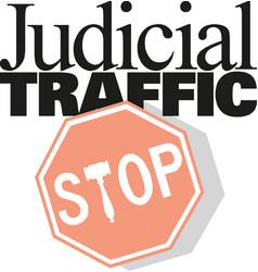 Stop sign icon judicial traffic vector