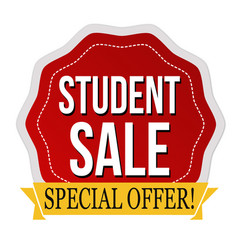student sale label or sticker vector image