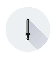 sword icon on round background vector image