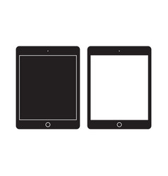 tablet icon mobile flat sign vector image