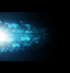 technology future modern light arrow vector image