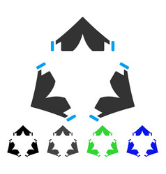 Tent camp flat icon vector
