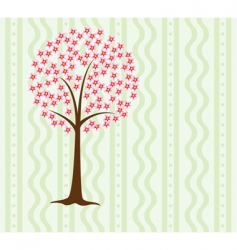 tree in blossom vector image