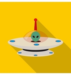 UFO icon flat style vector image