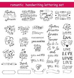 Valentines dayLove letteringLabelsBlack vector image