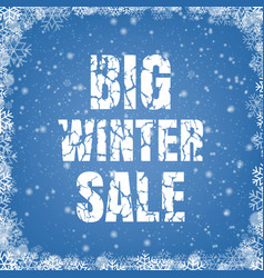 Winter promotional sale blue background vector