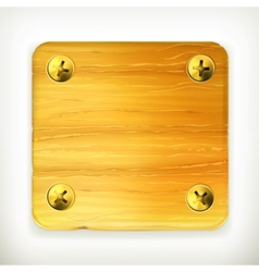 Wooden board with screws vector image