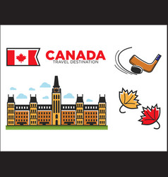 canada travel destination ptomotional poster with vector image