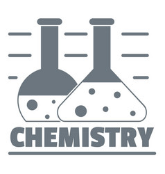 chemistry logo simple gray style vector image