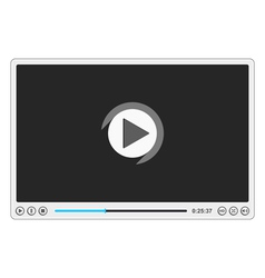 Flat Video Player vector image vector image