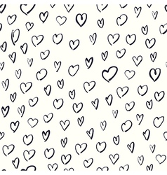heart shaped pattern vector image vector image