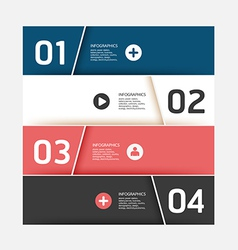 Modern Design template used for number banner vector image vector image