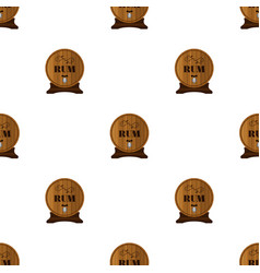 rum seamless pattern in flat style barrels with vector image vector image