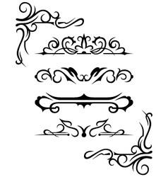 set calligraphic design elements vector image