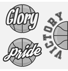 Set of Basketball Team Logos vector image