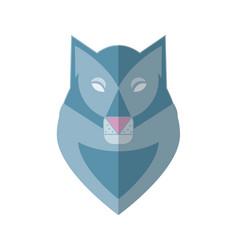 wolf head flat vector image