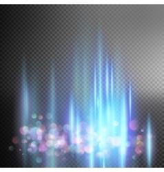 Bright blue magic lights EPS 10 vector image