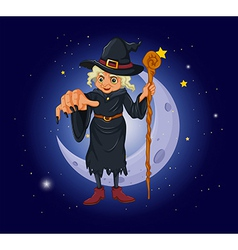 Cartoon Evil Witch vector image
