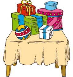 Gifts on the Table vector image