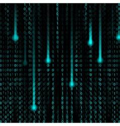 3d Matrix background vector image