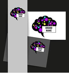 brain sign logo vector image