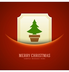 Christmas green tree card background vector image vector image