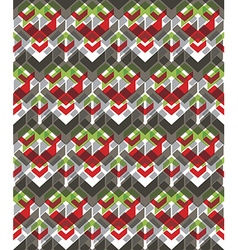 Colorful stylized symmetric endless pattern vector image vector image