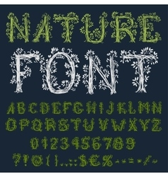 Eco font vector image