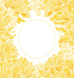 floral frame with chrysanthemum vector image vector image