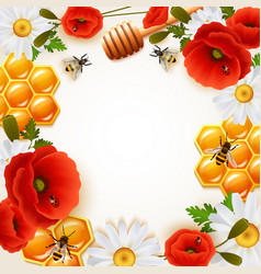honey colored background vector image vector image