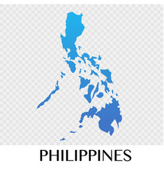 philippines map in asia continent design vector image