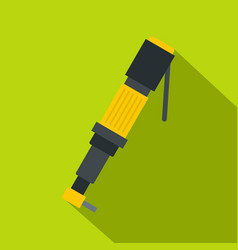 pneumatic screwdriver icon flat style vector image vector image