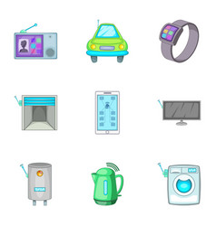 smart house automation techology security control vector image