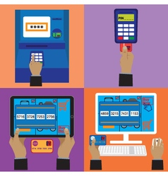 Various payment methods vector image vector image