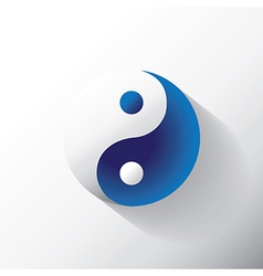 Ying Yang sign vector image
