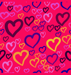 A seamless pattern with repeating hearts of vector