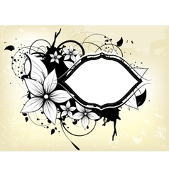 Abstract floral spring background with frame vector image