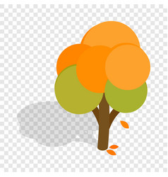 autumn tree isometric icon vector image vector image