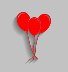 balloons set sign red icon with soft vector image vector image