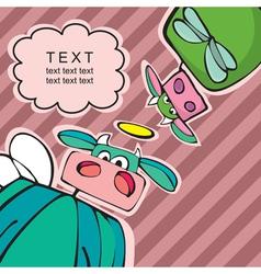 cartoon cows vector image vector image