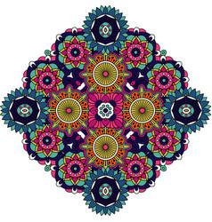 colored mandala floral decorative element vector image vector image