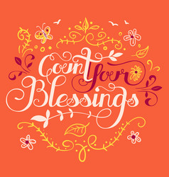 count your blessings vector image vector image