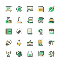 Education Icons 2 vector image vector image