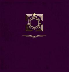 frame or monogram with crown vintage logos design vector image