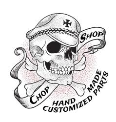 Old school biker shop emblem vector image