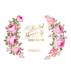 the bridal shower invitation vector image vector image